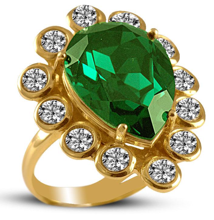 Δαχτυλίδι από επιχρυσωμένο ασήμι με πέτρες Swarovski 099b3021640