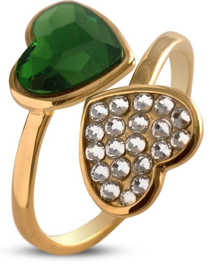 Δαχτυλίδι με καρδιές από επιχρυσωμένο ασήμι 925 με πέτρες Swarovski 9c634b86d9c