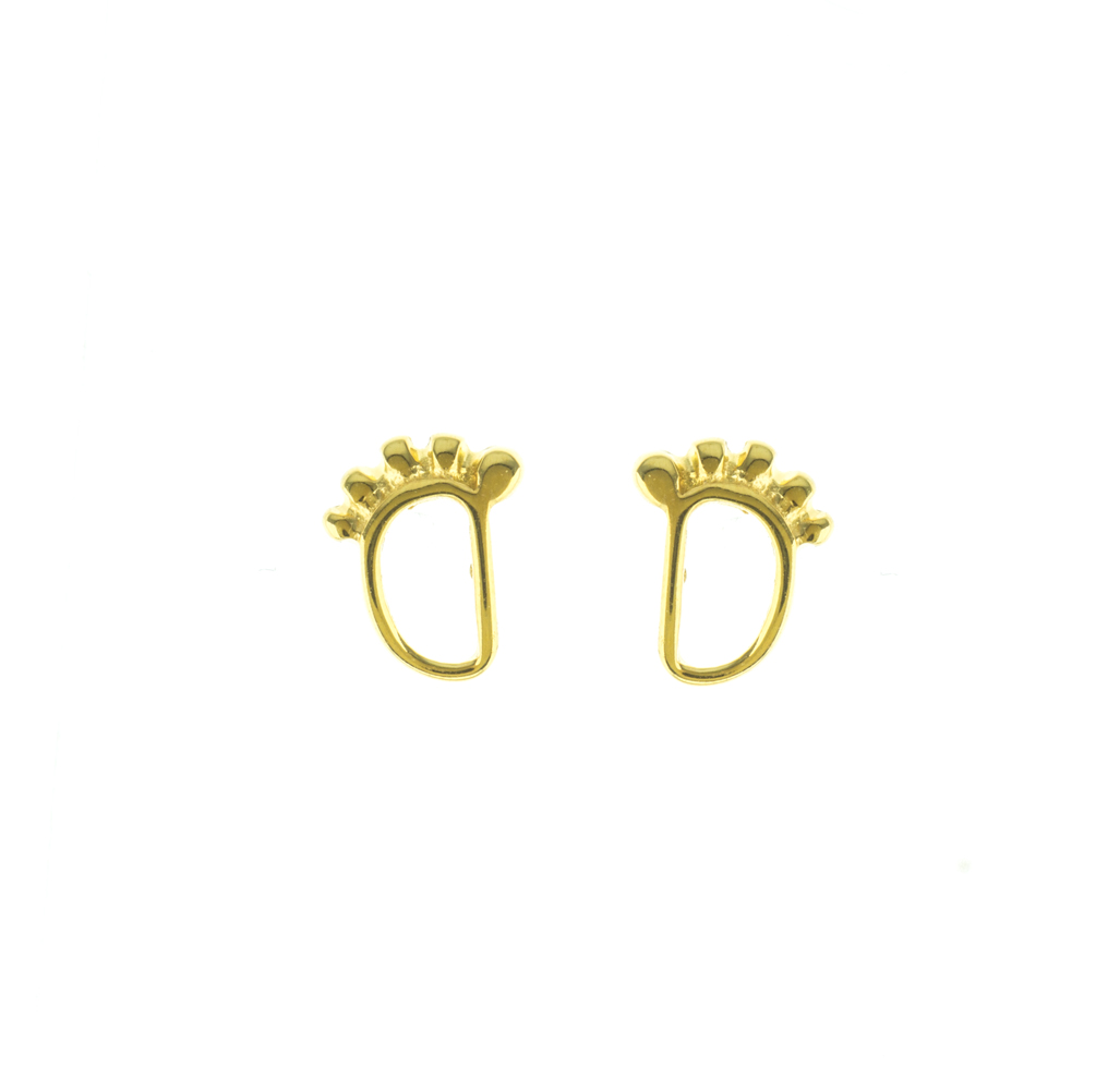 Σκουλαρίκια πατούσες επιχρυσωμένο ασήμι daa094b9921