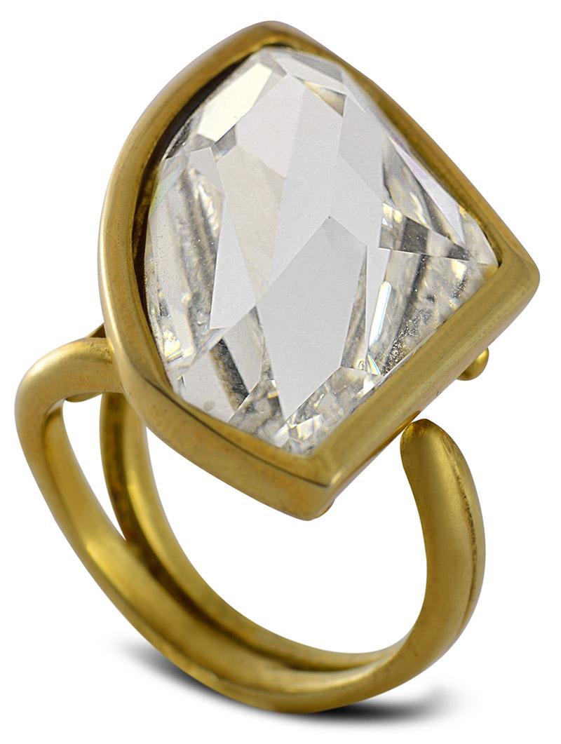 Δαχτυλίδι από επιχρυσωμένο ασήμι 925 με πέτρα Swarovski a1d1372f4ba