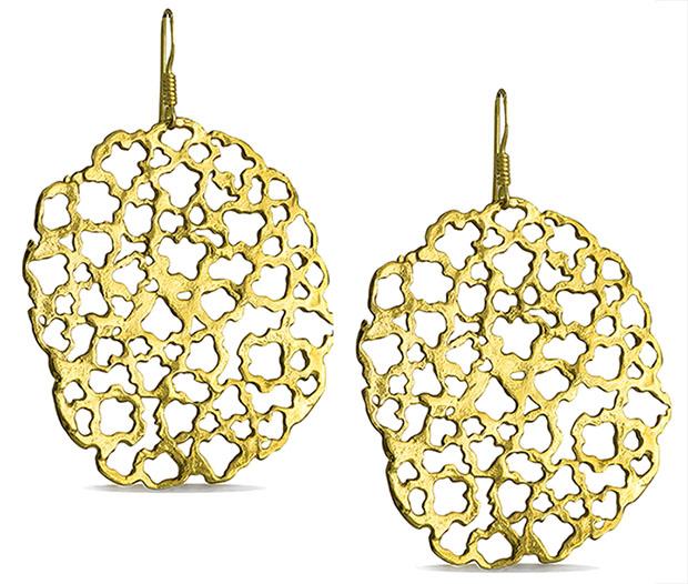 Χειροποίητα σκουλαρίκια ασημένια 925 επίχρυσα - Διάτριτα fab9a49a060