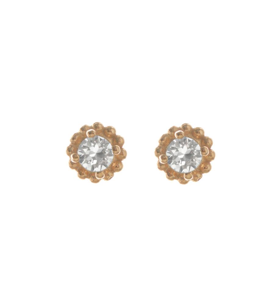 48d1b7dad47 Σκουλαρίκια από ρόζ επιχρυσωμένο ασήμι με πέτρα Swarovski