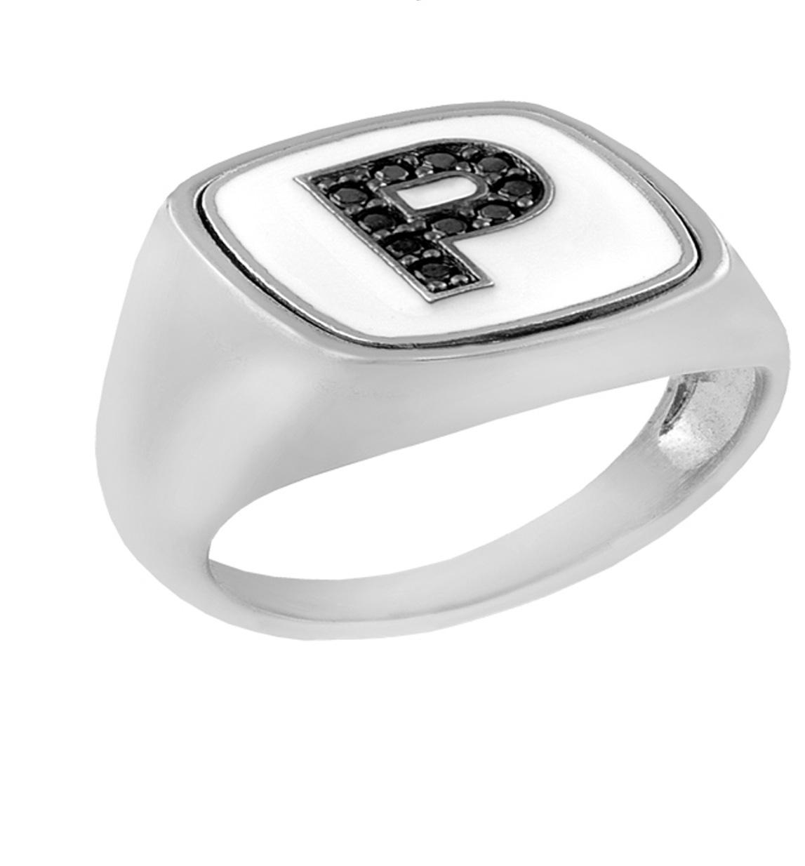 Δαχτυλίδι από ασήμι 925 με το μονόγραμμα Ρ 5180db2f3d3