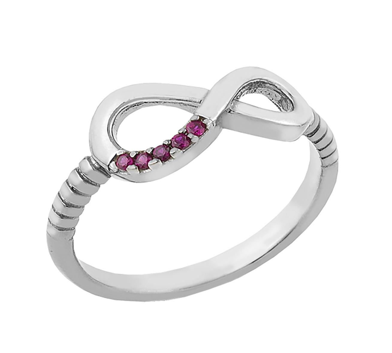 Δαχτυλίδι από ασήμι με το άπειρο με πέτρες ζιργκόν 5b4f6f3e2e0