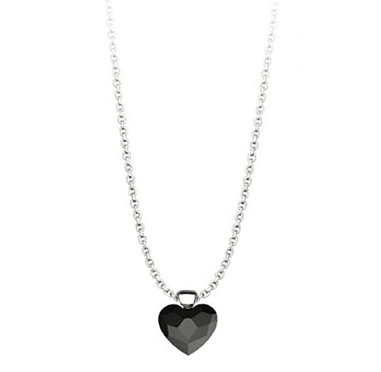 Κολιέ συλλογή Love καρδιά από ασήμι με πέτρα Swarovski a6fb0dc79dc