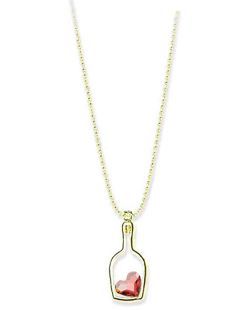 Κολιέ συλλογή Love καρδιά στο μπουκάλι από επιχρυσωμένο ασήμι με πέτρα  swarovski 8a47d55476e