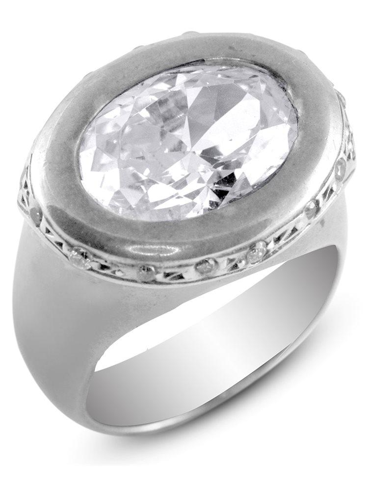 Ασημένιο Δαχτυλίδι με πέτρα ζιργκόν