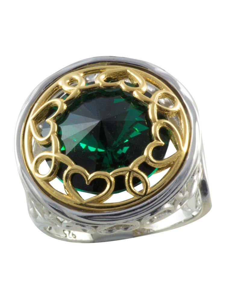 Δαχτυλίδι από ασήμι με πέτρα Swarovski