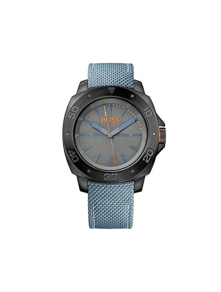 Ρολόι Hugo Boss Orange με γαλάζιο δερμάτινο λουράκι 1513069