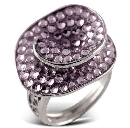Δαχτυλίδι από ασήμι με πέτρες Swarovski