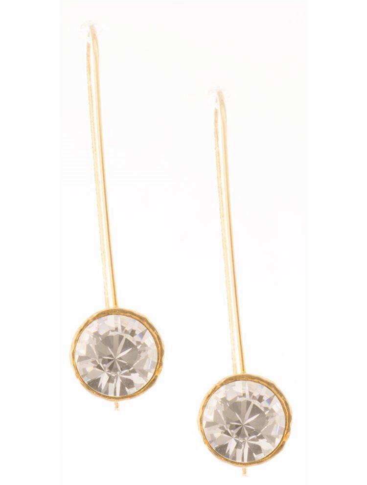Σκουλαρίκια από επιχρυσωμένο ασήμι με πέτρες swarovksi