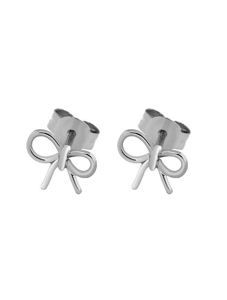 Σκουλαρίκια με φιογκάκια από ασήμι