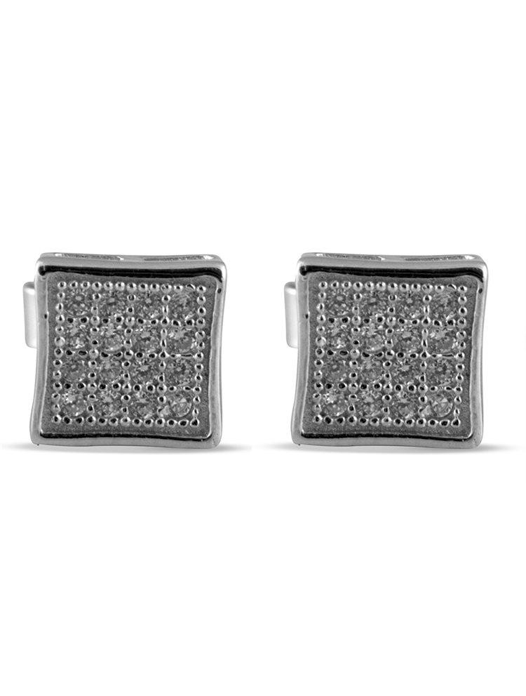 Σκουλαρίκια από ασήμι 925 με πέτρες ζιργκόν