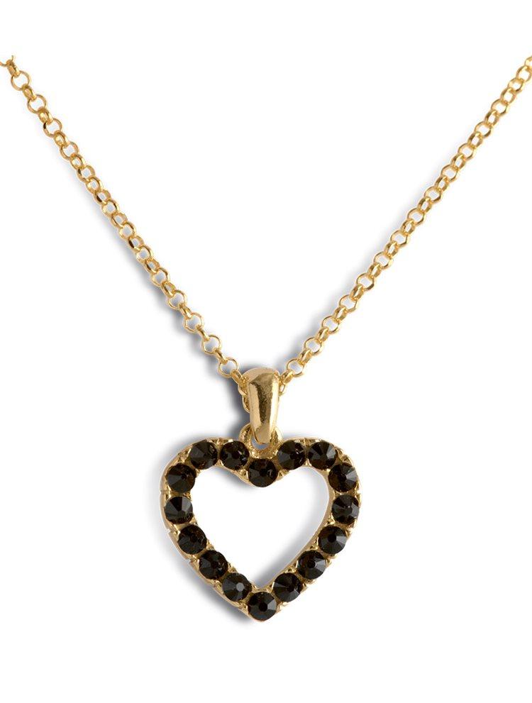 Κολιέ με καρδιά από επιχρυσωμένο ασήμι 925 με πέτρες Swarovski