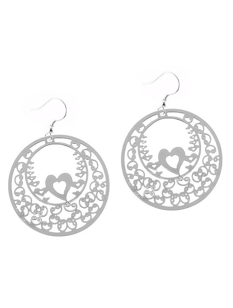 Εντυπωσιακό ζευγάρι σκουλαρίκια από ασήμι