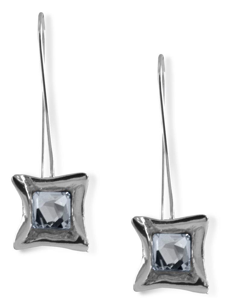 Σκουλαρίκια από ασήμι 925 με πέτρες Swarovski