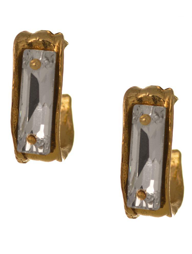 9b4480242a3 Σκουλαρίκια από επιχρυσωμένο ασήμι με πέτρες Swarovski