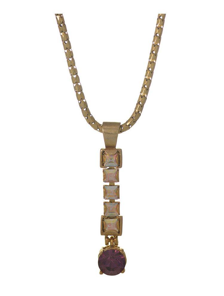 Κολιέ από επιχρυσωμένο ασήμι με πέτρες Swarovski bc4a846535e