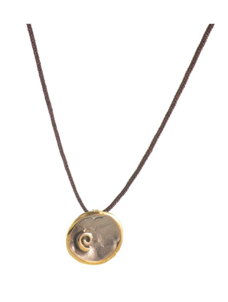 Χειροποίητο κολιέ από ασήμι 925 με κορδόνι