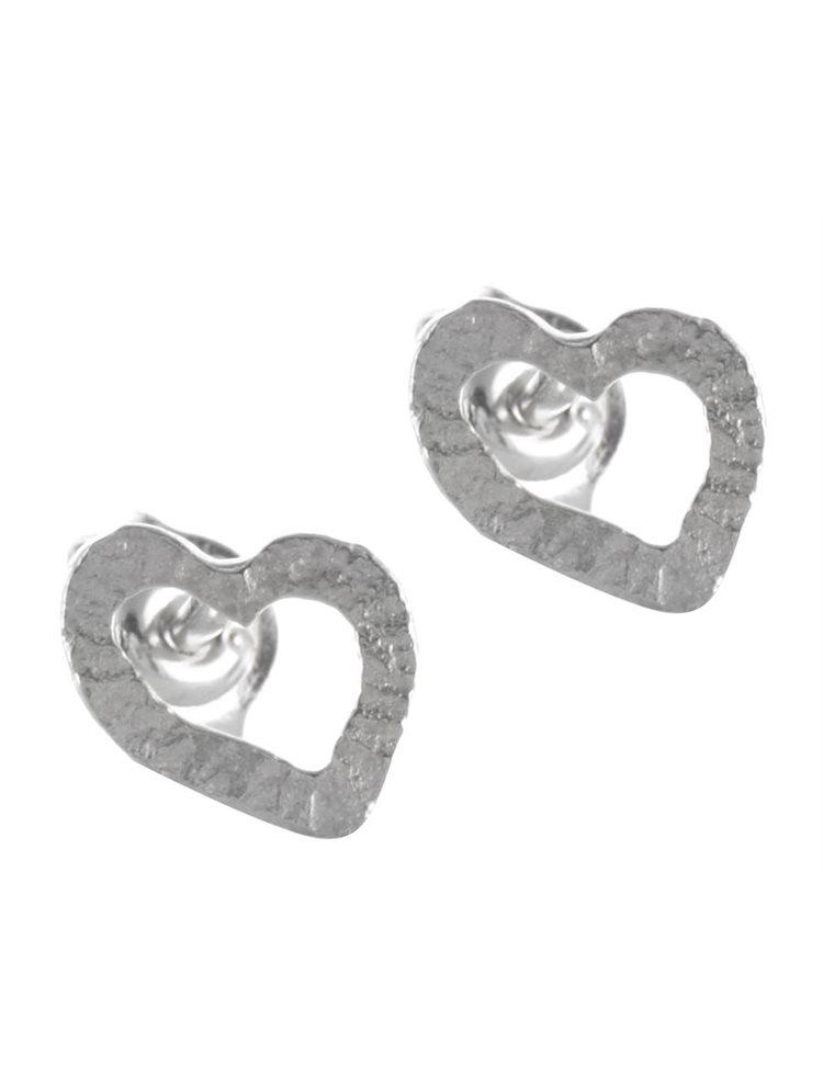 Χειροποίητο ζευγάρι σκουλαρίκια καρδιές από ασήμι