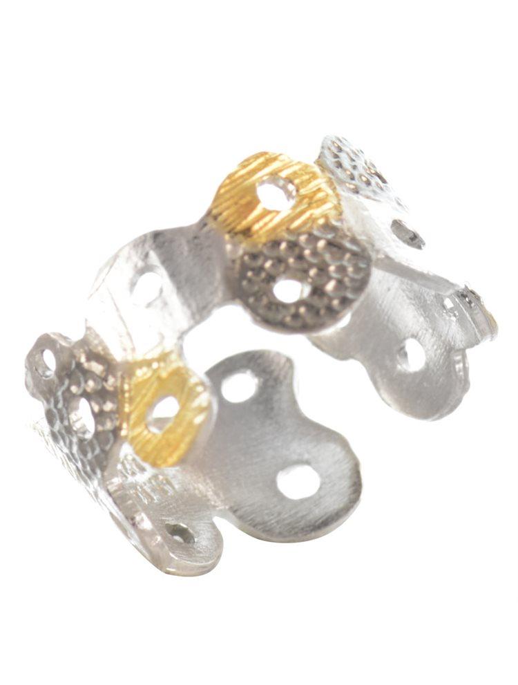 Χειροποίητο δαχτυλίδι σεβαλιέ από ασήμι