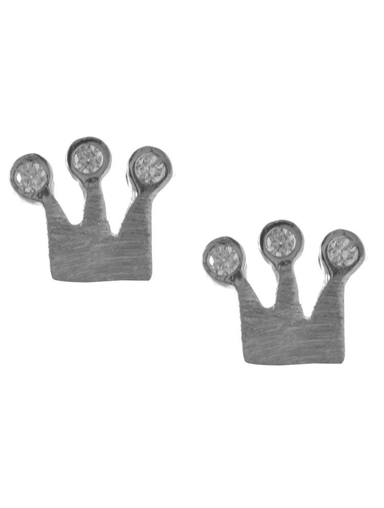 Χειροποίητα σκουλαρίκια κορώνες από ασημι