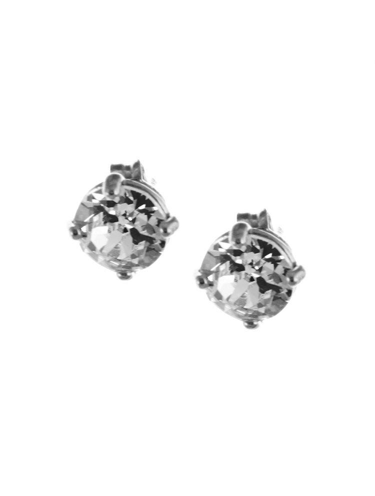 Σκουλαρίκια από ασήμι με πέτρες swarovski