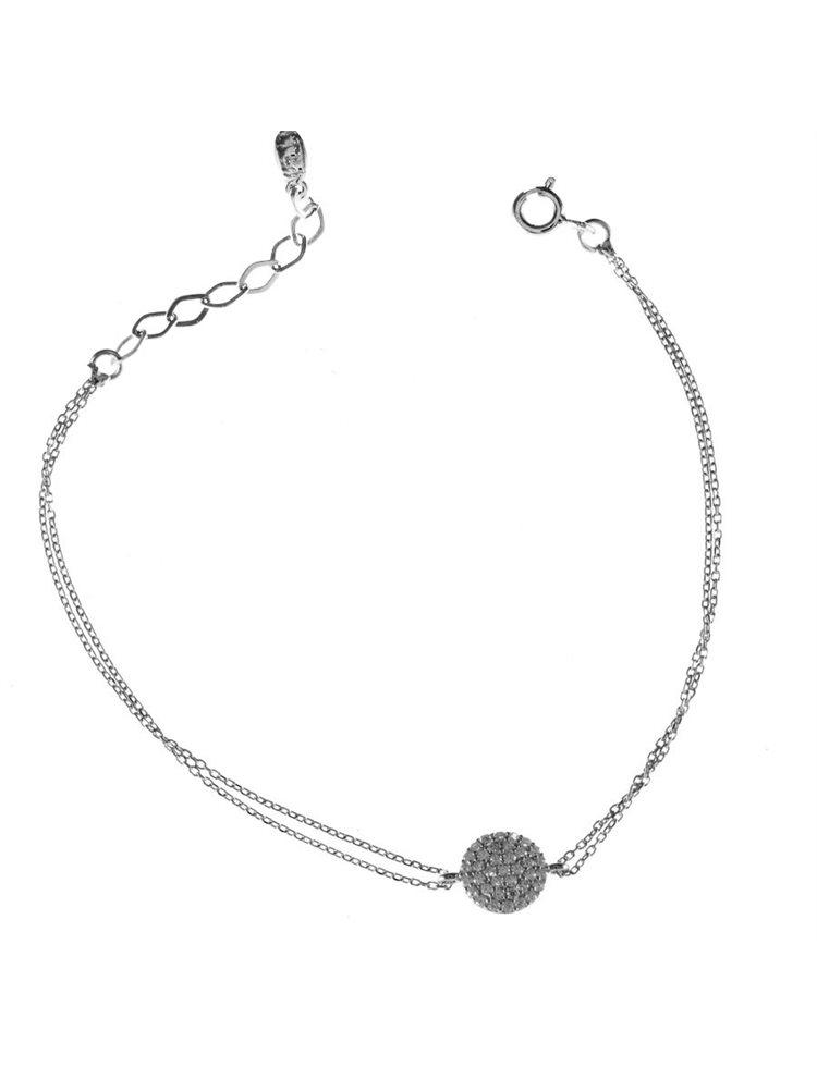 Βραχιόλι κύκλος σε ασήμι με πέτρες ζιργκόν