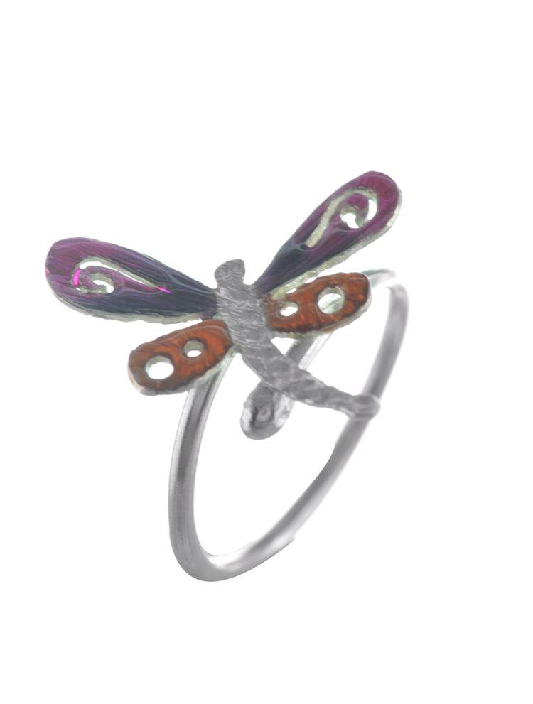 Χειροποίητο δαχτυλίδι πεταλούδα από ασήμι