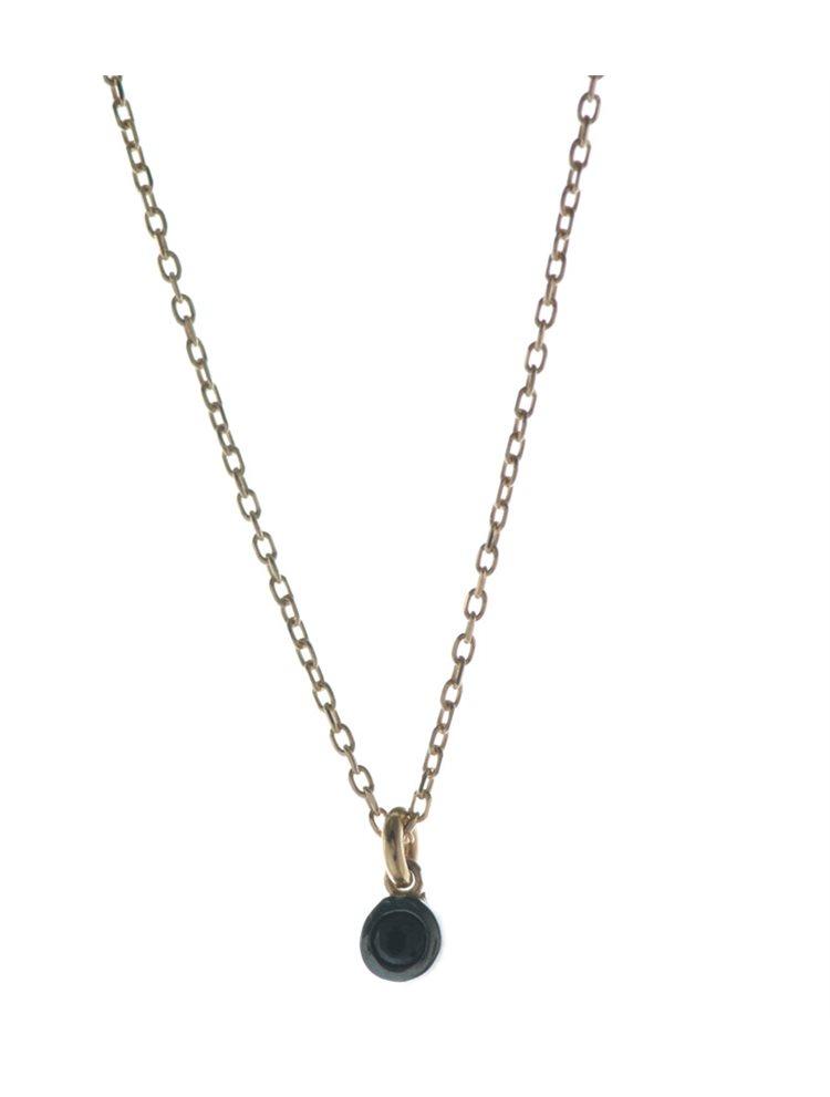Κολιέ dot μικροσκοπικό από ρόζ επιχρυσωμένο ασήμι με πέτρα ζιργκόν