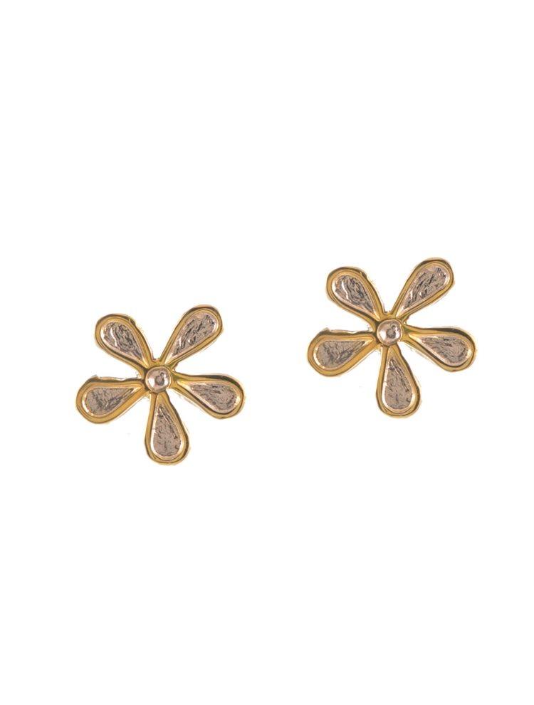 Χειροποίητα σκουλαρίκια λουλούδια από ασήμι