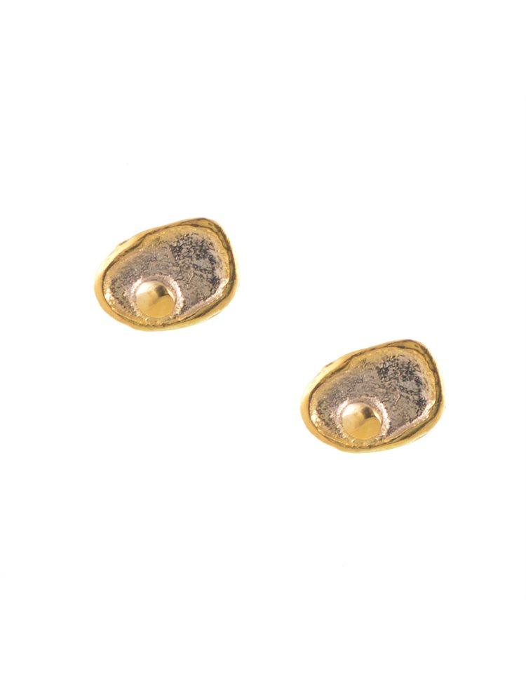 Χειροποίητα σκουλαρίκια από επιχρυσωμένο ασήμι