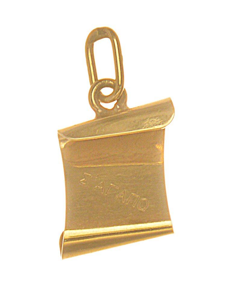 Φυλαχτό από γνήσιο χρυσό K14 με χειροποίητο στοιχείο