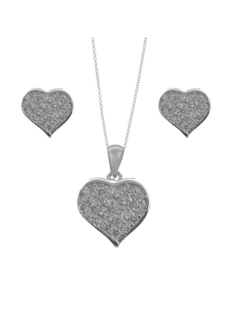 Σέτ κοσμημάτων από ασήμι σκουλαρίκια με μενταγιόν και με πέτρες ζιργκόν