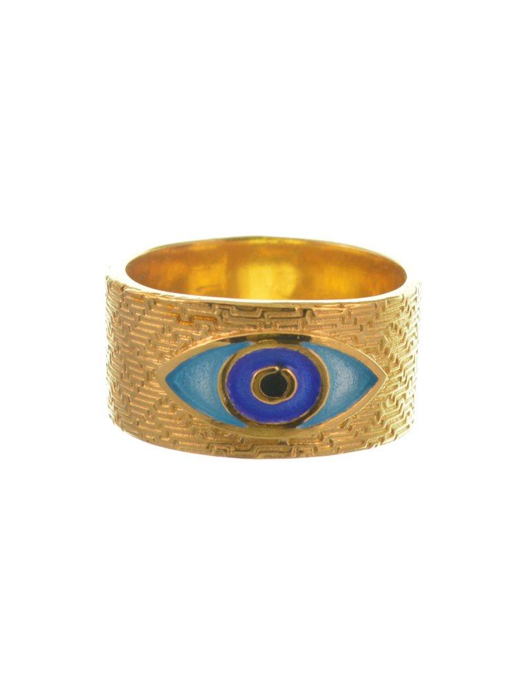 Δαχτυλίδι από επιχρυσωμένο ασήμι με μάτι