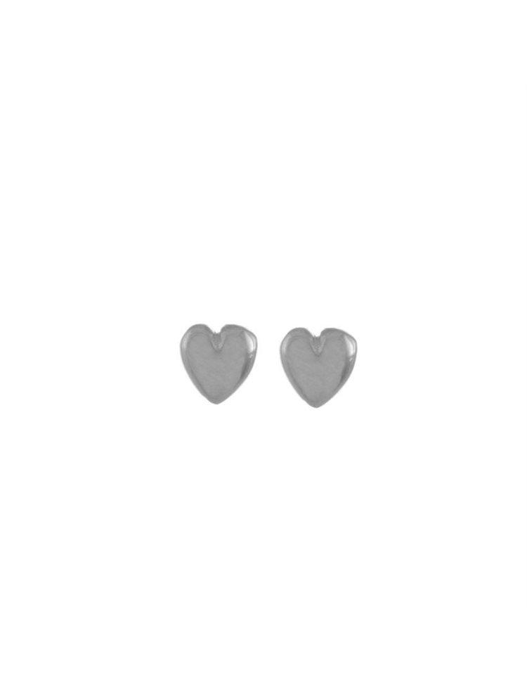 Σκουλαρίκια διακριτικές καρδούλες από ασήμι