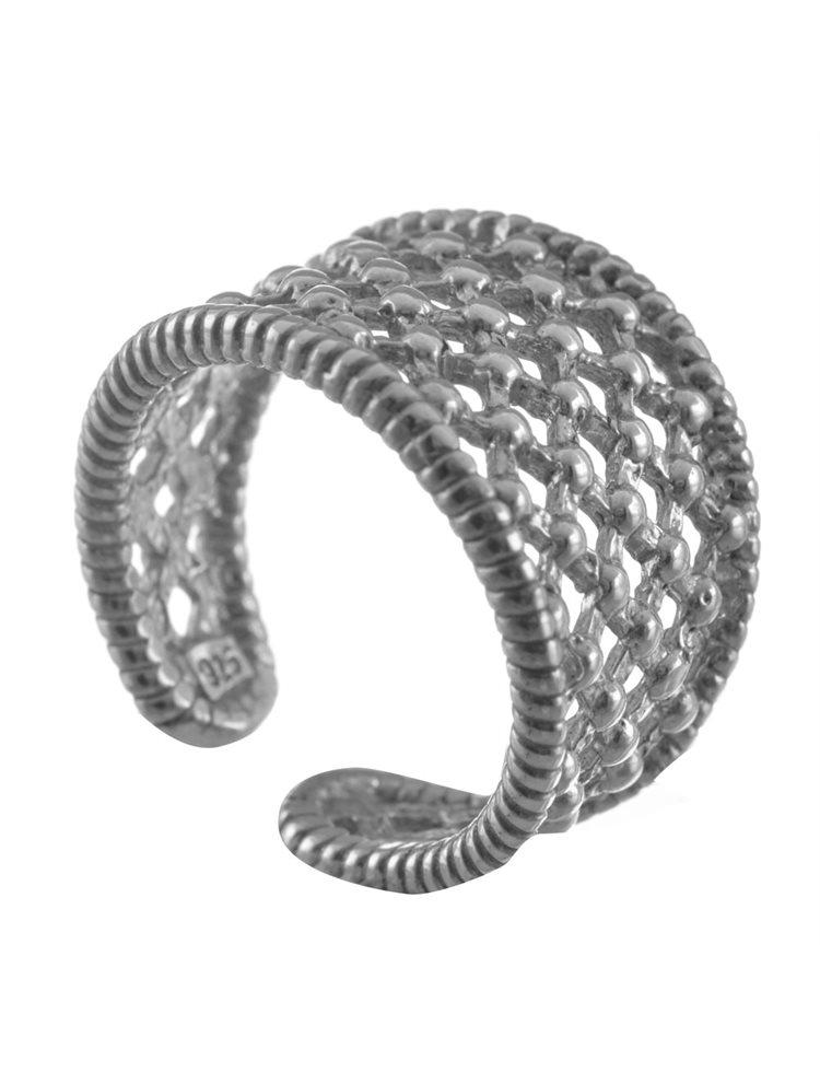 Σεβαλιέ χειροποίητο δαχτυλίδι από ασήμι