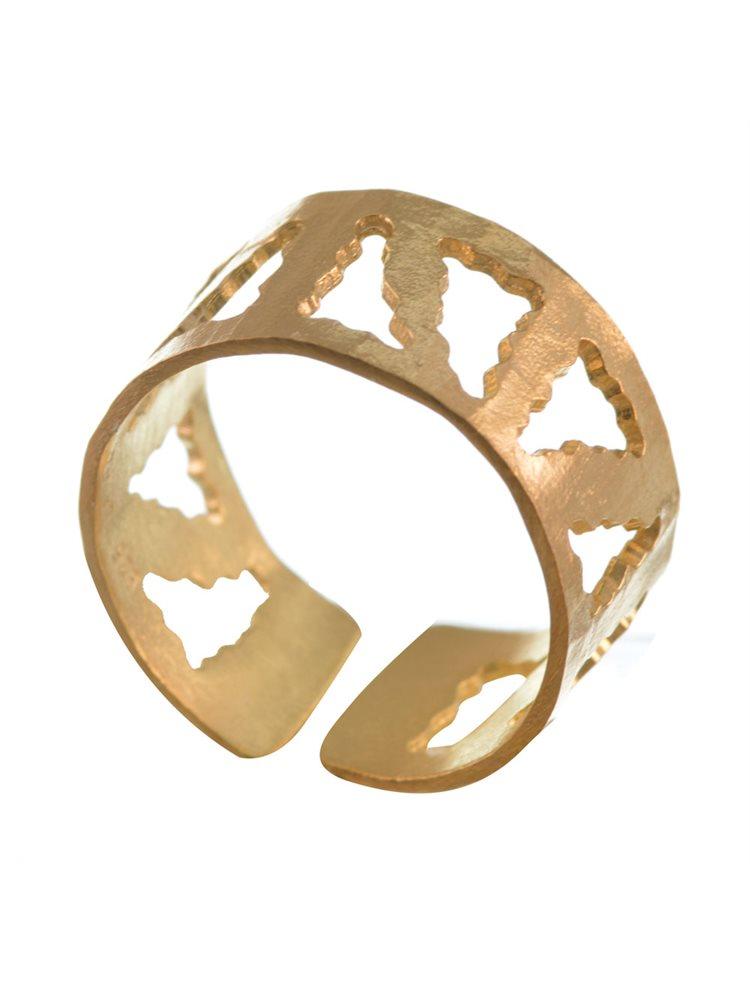 Δαχτυλίδι χειροποίητο από επιχρυσωμένο ασήμι