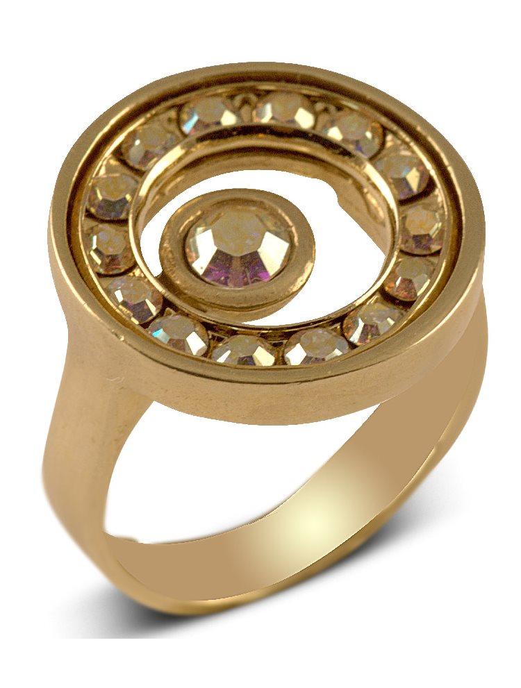 Δαχτυλίδι Swarovski από επιχρυσωμένο ασήμι 925