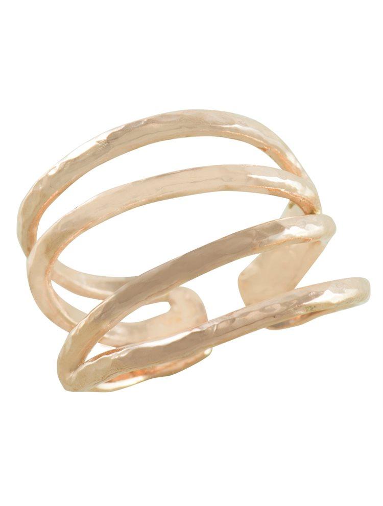 Δαχτυλίδι από ρόζ επιχρυσωμένο ασήμι