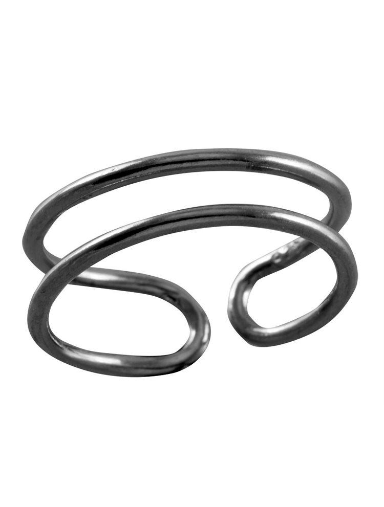 Δαχτυλίδι από μαύρο επιπλατινωμένο ασήμι