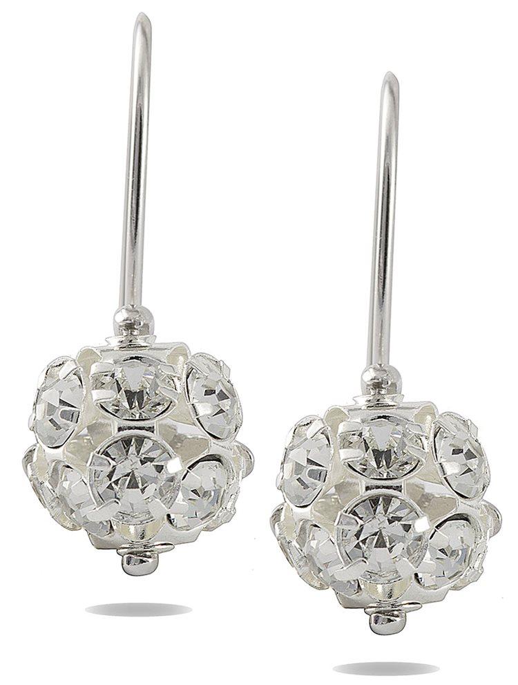 Σκουλαρίκια ασήμενια 925 με πέτρες Swarovski
