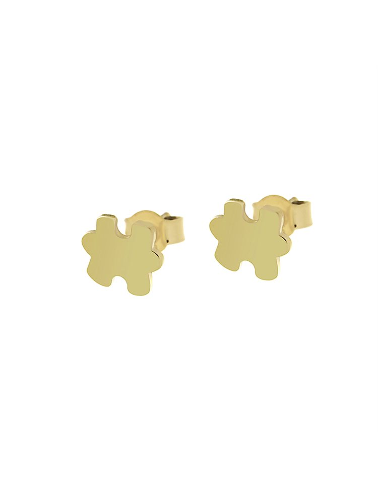 Σκουλαρίκια puzzle από επιχρυσωμένο ασήμι