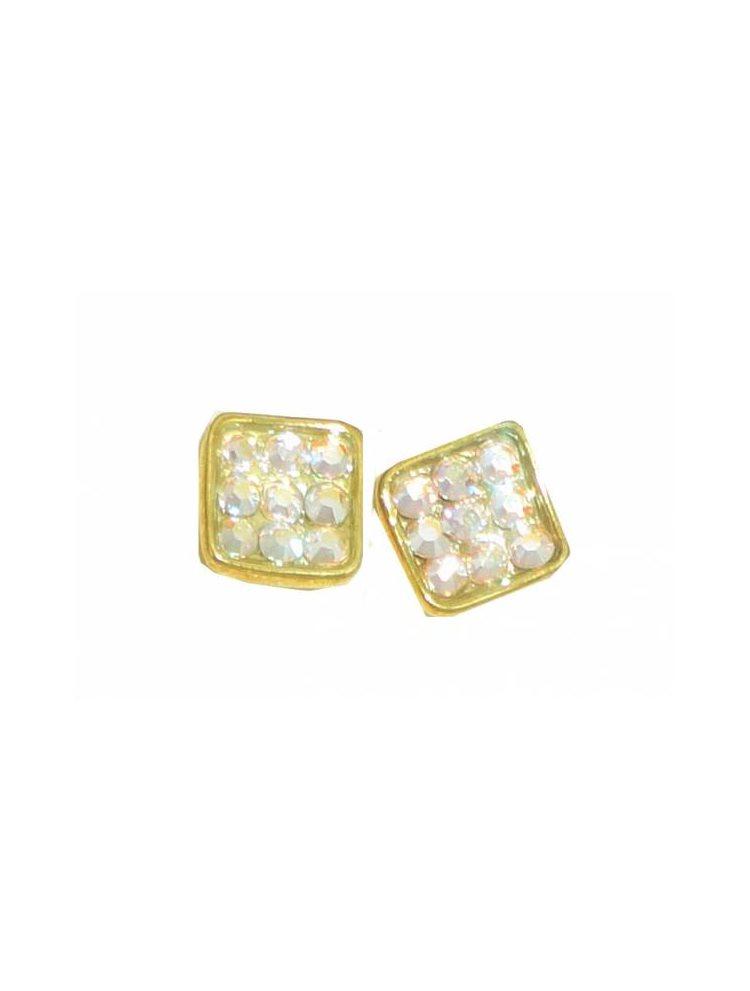 Γυναικεία σκουλαρίκια από ασήμι επιχρύσωμένο με πέτρες Swarovski