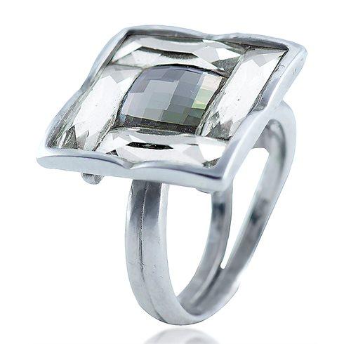 Swarovski Δαχτυλίδι ασημένιο 925 επιπλατινωμένο