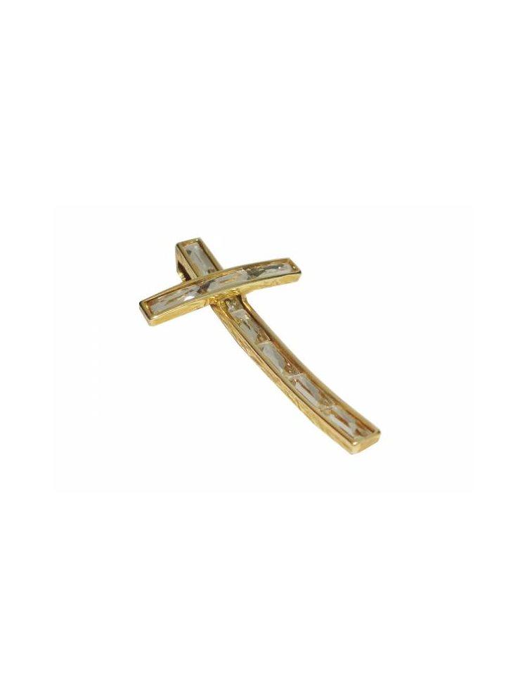 Σταυρός από ασήμι 925 με πέτρες Swraovski