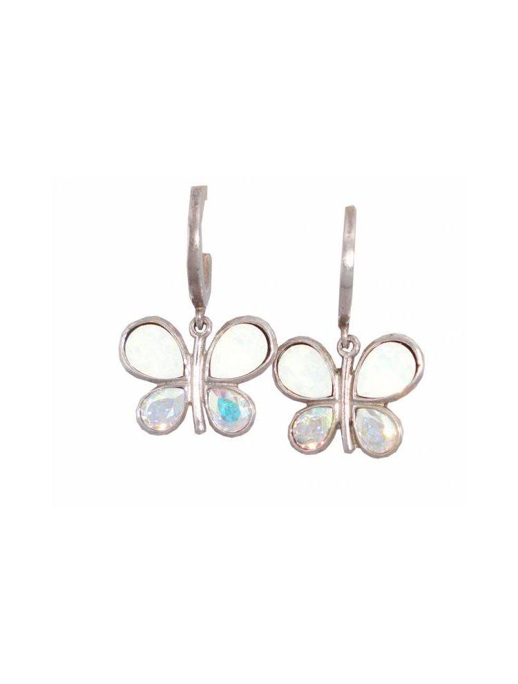 Γυναικεία σκουλαρίκια από ασήμι με πέτρες Swarovski
