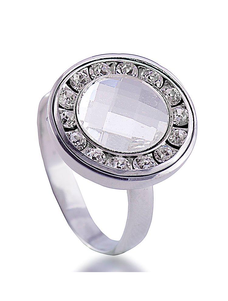 Δαχτυλίδι ασημένιο 925 με πέτρες Swarovski