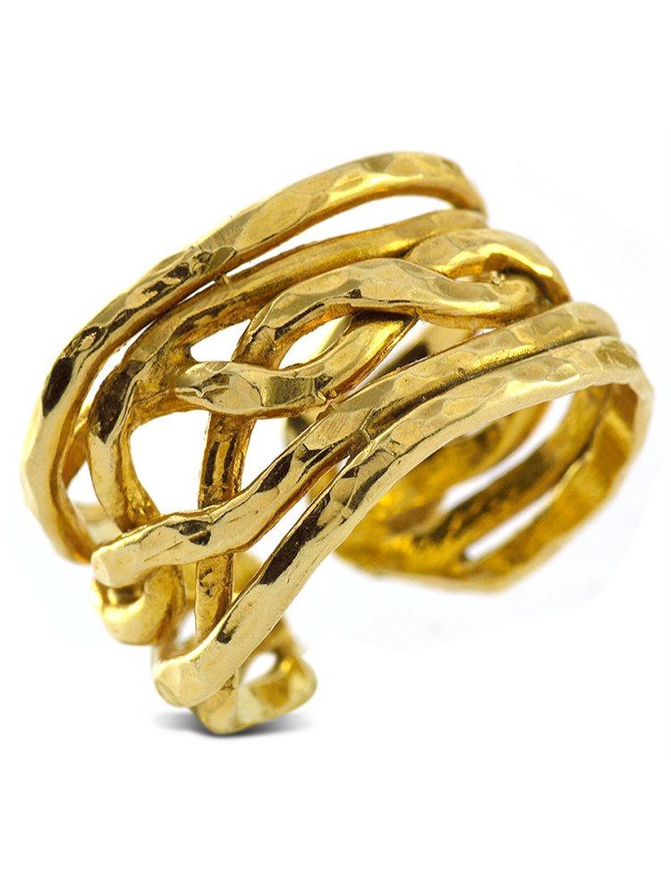 Δαχτυλίδι χειροποίητο ασημένιο 925 - Επίχρυσο