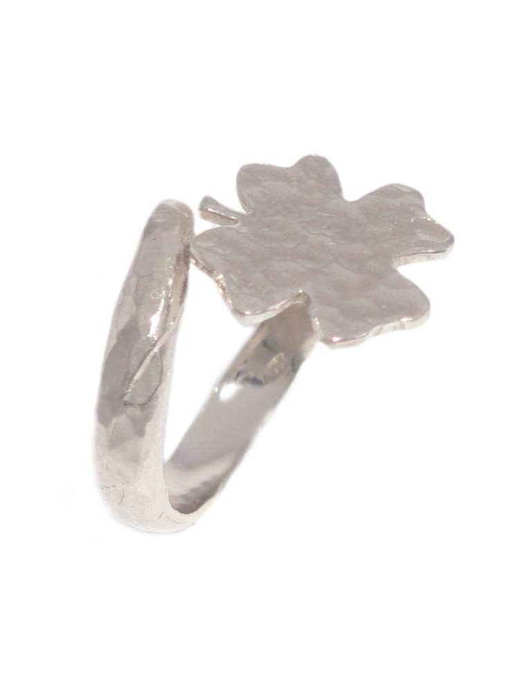 Γυναικείο δαχτυλίδι σεβαλιέ από ασήμι